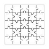 Vector van het raadsel de lege malplaatje Royalty-vrije Stock Afbeelding