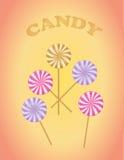 Vector van het suikergoed de vector, zoete suikergoed Royalty-vrije Stock Foto's