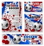 Vector van het het voetbalteam van de voetbalkop affiches als achtergrond royalty-vrije illustratie