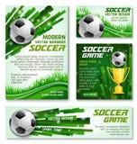 Vector van het het voetbalteam van de voetbalkop de banneraffiches stock illustratie