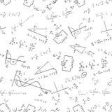 Vector 1 van het wiskunde naadloze patroon stock illustratie