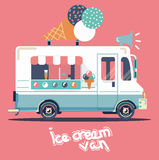 Vector van ice cream Royalty Free Stock Photography