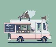 Vector van ice cream. Vector van illustration retro vintage ice cream Stock Photos