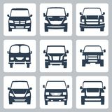 Vector van icons set: front view Royalty Free Stock Image