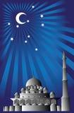 Vector van Islamitische moskee Stock Foto's