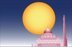 Vector van Islamitische moskee Stock Afbeeldingen