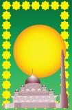 Vector van Islamitische moskee Stock Fotografie