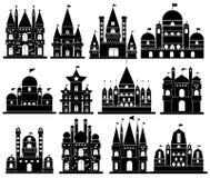 Vector van Kasteelpictogrammen Royalty-vrije Stock Fotografie