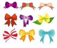 Vector van kleurrijke giftbogen met linten Vector illustratie Royalty-vrije Stock Fotografie