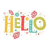 Vector van letters voorziend Hello Royalty-vrije Stock Foto