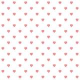 Vector van naadloos patroon van harten royalty-vrije illustratie