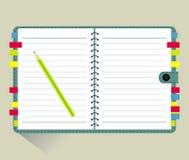 Vector van Notaboek Stock Fotografie