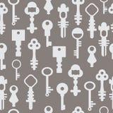 Vector van patroon retro sleutels Stock Fotografie