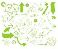 Vector van Pijl Uit de vrije hand Royalty-vrije Stock Afbeeldingen