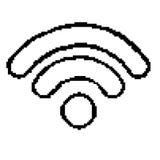 Vector van pixel het met 8 bits van het wifipictogram EPS8 Stock Fotografie