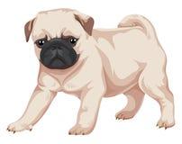 Vector van pug hond vector illustratie