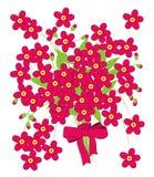 Vector van Roze Bloem met Boog Stock Foto's