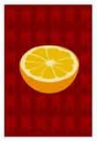 Vector van sinaasappel Royalty-vrije Stock Fotografie