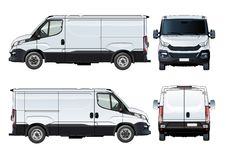 Vector van template isolated on white Royalty Free Stock Images