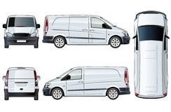 Vector van template isolated on white Royalty Free Stock Photography