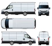 Vector van template isolated on white Stock Images