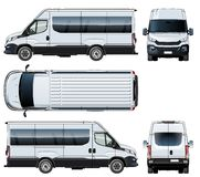 Vector van template isolated on white Stock Photo