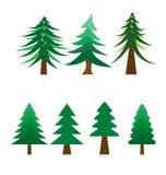 Vector van velen stijl van Kerstboom op witte achtergrond royalty-vrije illustratie