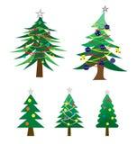 Vector van velen stijl van verfraaide Kerstboom stock illustratie