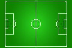 Vector van voetbalgebied Royalty-vrije Stock Fotografie