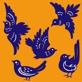 Vector van vogels papier-Besnoeiing Royalty-vrije Stock Afbeelding