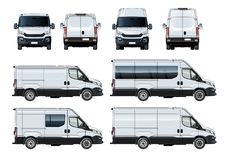 Vector vans set template isolated on white Stock Photos