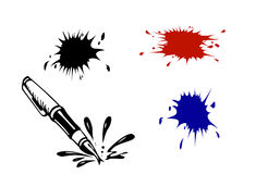 Vector varicoloured inkblots Royalty Free Stock Images