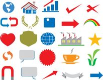 Vector - Various Business Icon Logo Infographic royalty free illustration