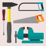 Vector various color flat design house repair instruments equipment icons construction house tools. Stock Photos