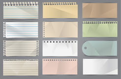 Vector various note papers Stock Photography