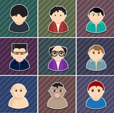 Vector various people icon set. Elements are layered separately in vector file. Easy editable Stock Images