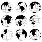 Vector various turn globes Stock Photos
