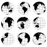 Vector various turn globes Stock Photos