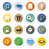 Vector of various web icon flat design Royalty Free Stock Photo