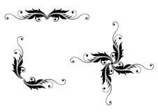 Vector vastgestelde elementen voor ontwerpbloemen Stock Foto's