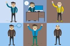Vector vastgestelde karakters van de mens Stock Afbeelding
