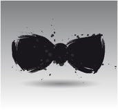 Vector Vector brushwork black bow Royalty Free Stock Image