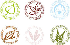 Vector. Vector signs on plants Royalty Free Stock Images