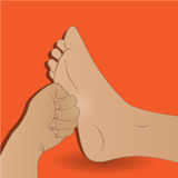 Vector - Vector spa feet cartoon flat illustration Stock Photo