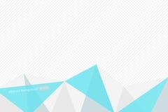 Vector veelhoekig abstract blauw grijs patroon op gestreepte backgroun Stock Afbeelding
