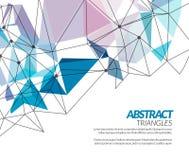Vector veelhoekige technoachtergrond van driehoeks abstracte vormen Stock Afbeeldingen