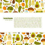 Vector vegan protein background Royalty Free Stock Image
