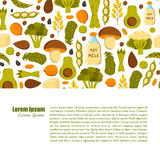 Vector vegan protein background Stock Photography