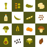 Vector vegan protein icons Stock Image