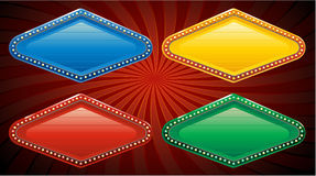 Vector vegas casino sign. Gold casino sign, vector illustration Stock Images